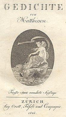 Gedichte, Zürich 1815 (Titelseite) (Quelle: Wikimedia)