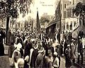 Mawlid an-Nabi SallAllaho Alaihi wa Sallam procession at Boulac Avenue in 1904 at Cairo, Egypt.jpg