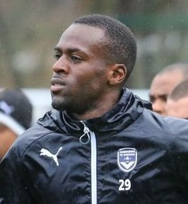 Poundjé op training met Girondins Bordeaux, 2017
