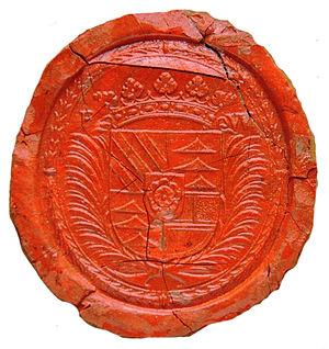 Maximilian von und zu Trauttmansdorff - Seal of 1648