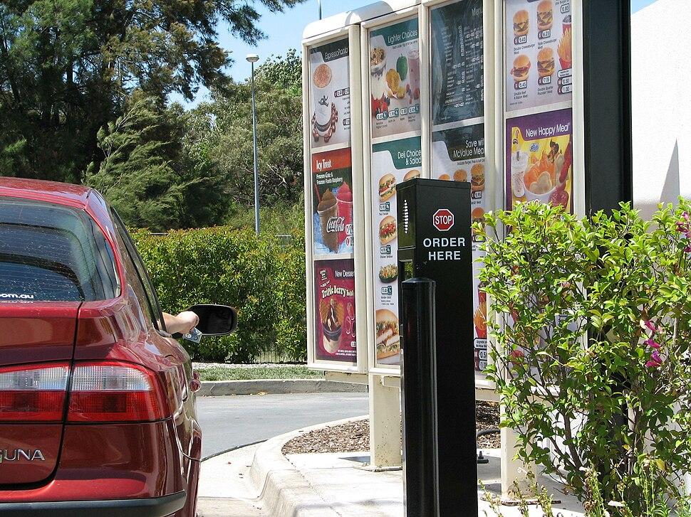 McDonalds drive thru Charnwood Australia