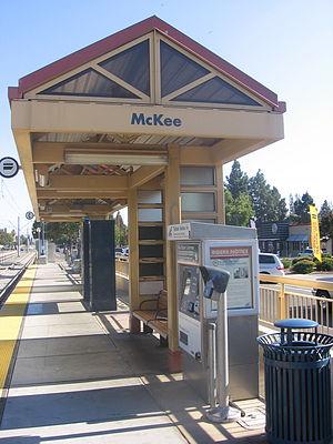McKee station - McKee Station platform, 2012