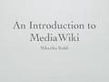 MediaWiki presentation.pdf