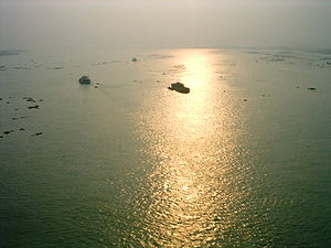 Surma-Meghna River System - River Meghna from the bridge over the river