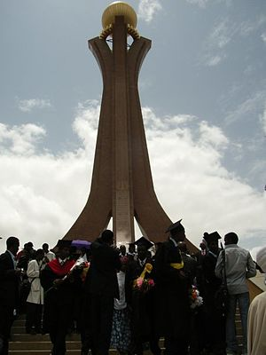 Mekelle, TPLF monument and Mekelle University graduation