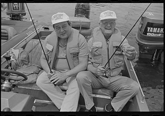 Congressional Sportsmen's Foundation - Two members of the Congressional Sportsmen's Caucus in 1991