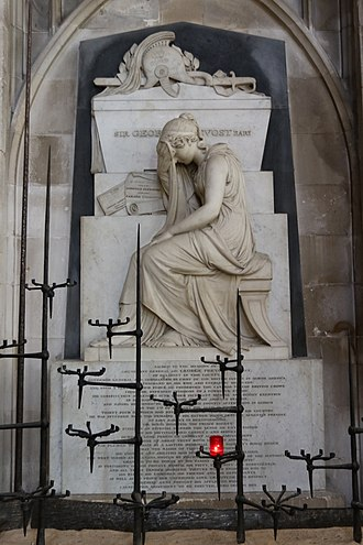 George Prévost - Memorial in Winchester Cathedral