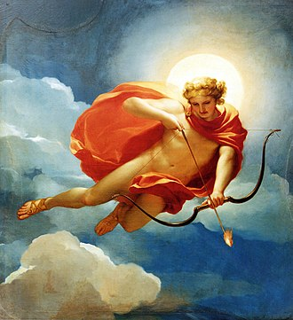 Helios - Helios as the personification of midday by Anton Raphael Mengs. Notice the apollonian traits absent in mythology and Hellenic art, such as the lack of a chariot and the bow and arrow.