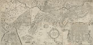 A map of Palestine made in 1537. West is at the top.
