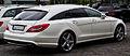 Mercedes-Benz CLS 350 CDI Shooting Brake Sport-Paket AMG (X 218) – Heckansicht, 5. Juli 2014, Düsseldorf.jpg