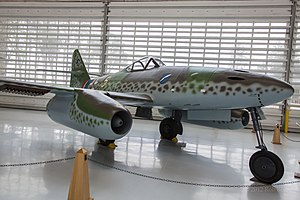 Heinrich Ehrler - A Me 262 of JG 7 similar to those flown by Ehrler on display at the Evergreen Aviation & Space Museum.