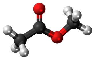 Methyl acetate - Image: Methyl acetate 3D ball