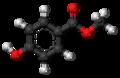 Methylparaben molecule ball.png