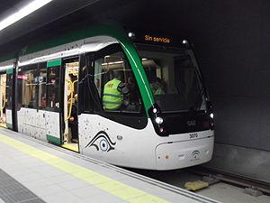 Málaga Metro - Image: Metro Malaga Tren