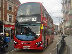 Metroline West VW1392 sur la route 83, Wembley Central.jpg