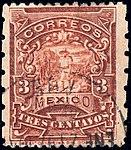 Mexico 1896-97 3c perf 6x12 Sc259b used.jpg