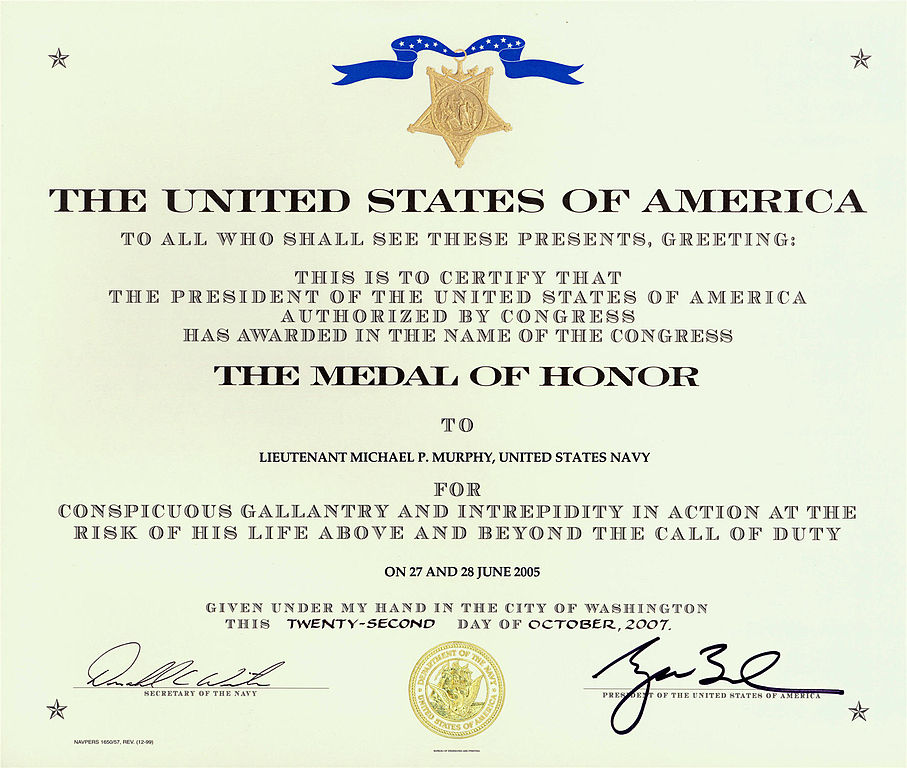 Filemichael murphy medal of honor certificateg wikimedia commons other resolutions 283 240 pixels 567 480 pixels yadclub Gallery
