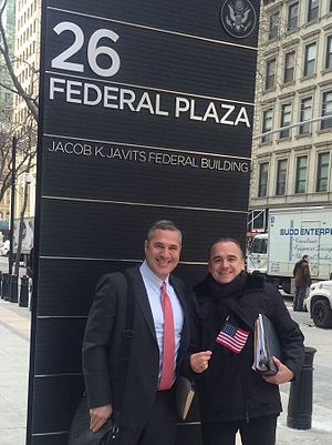 Michael Wildes - Wildes with Jean-Georges, after Wildes obtained American citizenship for the French chef.