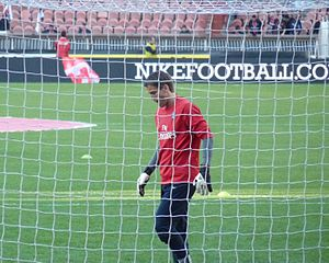 Mickaël Landreau - Landreau in training before a match between PSG 0–0 Monaco.