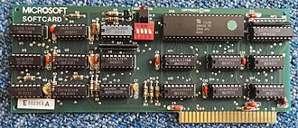 Z-80 SoftCard - Image: Microsoft Softcard Z80 coprocessor for Apple II