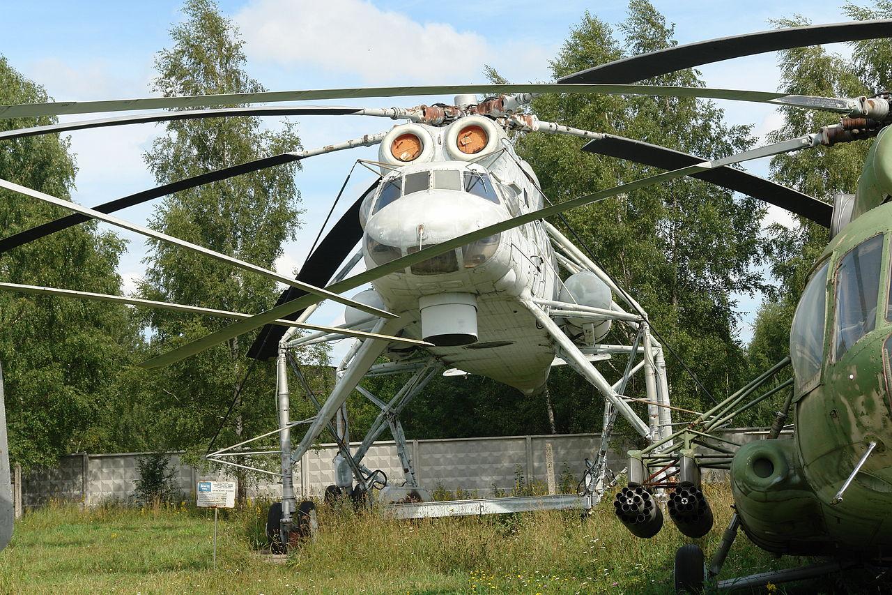 Mil Mi-10 no Museu Central da Força Aérea de Monino (Moscou)