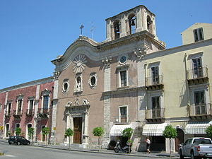 Milazzo - The church of the Carmine.
