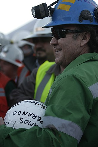 Franklin Lobos - Lobos following his rescue from the 2010 Copiapó mining accident