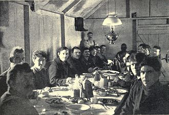 Boarding house - Early-20th century dinner in a miners' boarding house in northern Canada