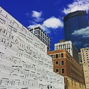Gaspard de la nuit - An excerpt of the Scarbo section appears in a mural in downtown Minneapolis, Minnesota.