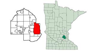Minneapolis Public Schools - Image: Minneapolis map