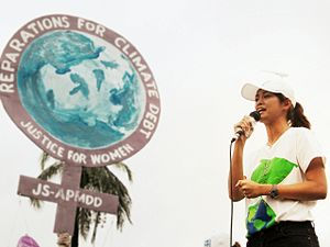 Miriam Quiambao - Miriam Quiambao speaks at the Women's March for Climate Action in Bangkok preceding the 2009 United Nations Climate Change Conference