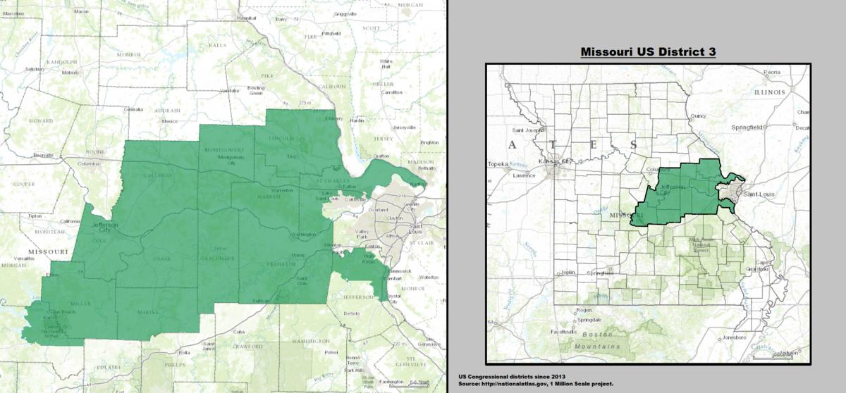 Missouris 3rd Congressional District Wikipedia - Missouri On A Us Map