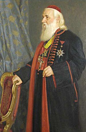 Archdiocese of Arad - Metropolitan Ioan Mețianu of Sibiu, former Bishop of Arad (1874-1898); portrait by Arthur Coulin