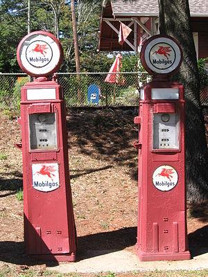 "Cannondale Historic District - Antique ""Mobilgas"" pumps, manufactured by Tokheim"