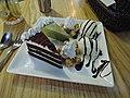 Mocha cheesecake and chestnuts chocolate cake with ice cream.jpg