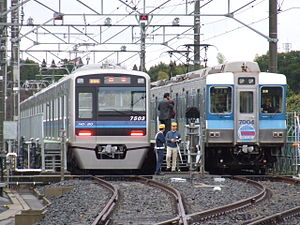 Model 7500 & 7000 of Hokuso Railway.jpg