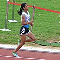 Monika Chaudhary, Who Finished Fourth In The Women's 1500m First Round Race (cropped).jpg