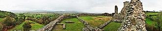 Montgomery Castle - Image: Montgomery Castle, Wales, Panorama I