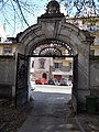 Monument mansion, now the Austrian ambassador's residence. Street gate from parking yard. - Budapest, XII. district. Városmajor Street, 28B.JPG