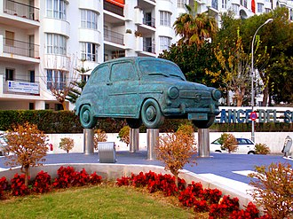 Spanish miracle - A monument in Spain for the SEAT 600, the car symbol of the Spanish miracle