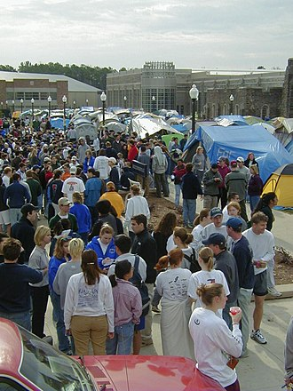 Cameron Crazies -  Gathering in K-ville before the 2000 UNC–Duke game