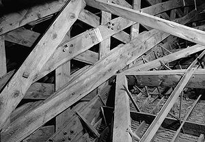 Salt Lake Tabernacle - Trusses were bound with wooden pegs and rawhide