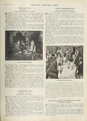 The Captive (1915 film) - A film review
