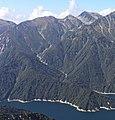 Mount Shishi Mount Oni and Mount Ryo from Mount Harinoki.jpg