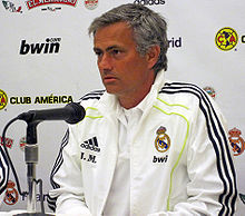 Mourinho in conferenza stampa come allenatore del Real Madrid