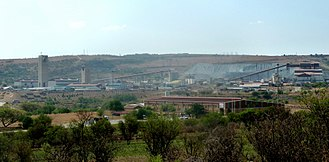 Mponeng Gold Mine - Above-ground operations at Mponeng mine.