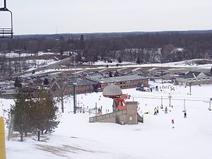 English: Mt. Brighton Ski Hill, Mt. Brighton, MI.