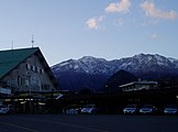Mt. Nyoho from Tobu Nikko Stn.JPG
