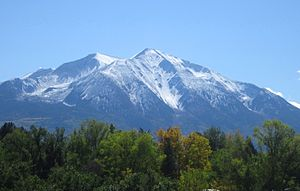 Mount Sopris - Mount Sopris as viewed from State Highway 82.