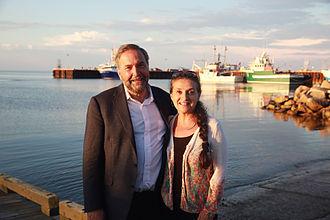 Tom Mulcair - Tom Mulcair and wife Catherine Pinhas in New Brunswick, 2015